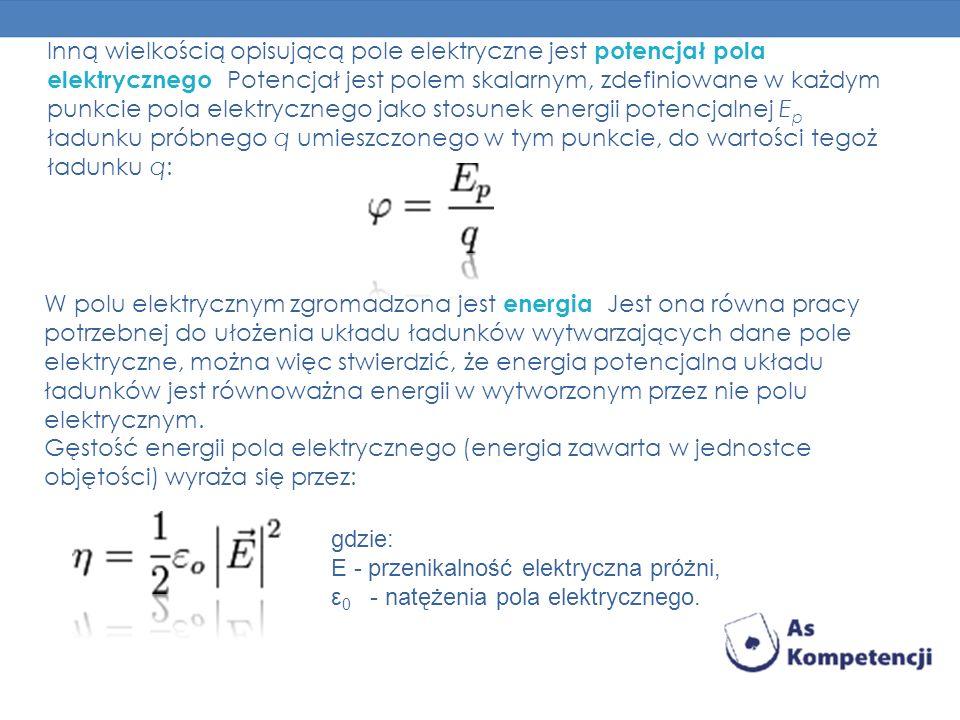 Inną wielkością opisującą pole elektryczne jest potencjał pola elektrycznego. Potencjał jest polem skalarnym, zdefiniowane w każdym punkcie pola elekt