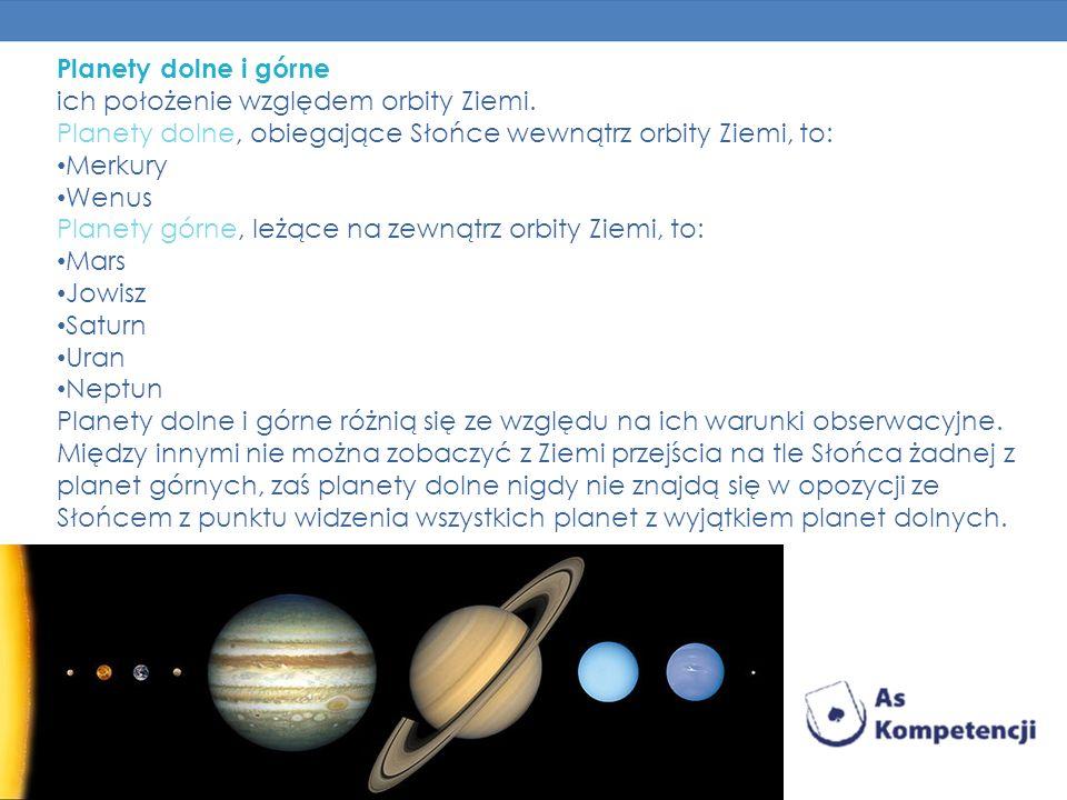 Planety dolne i górne podział planet Układu Słonecznego ze względu na ich położenie względem orbity Ziemi. Planety dolne, obiegające Słońce wewnątrz o