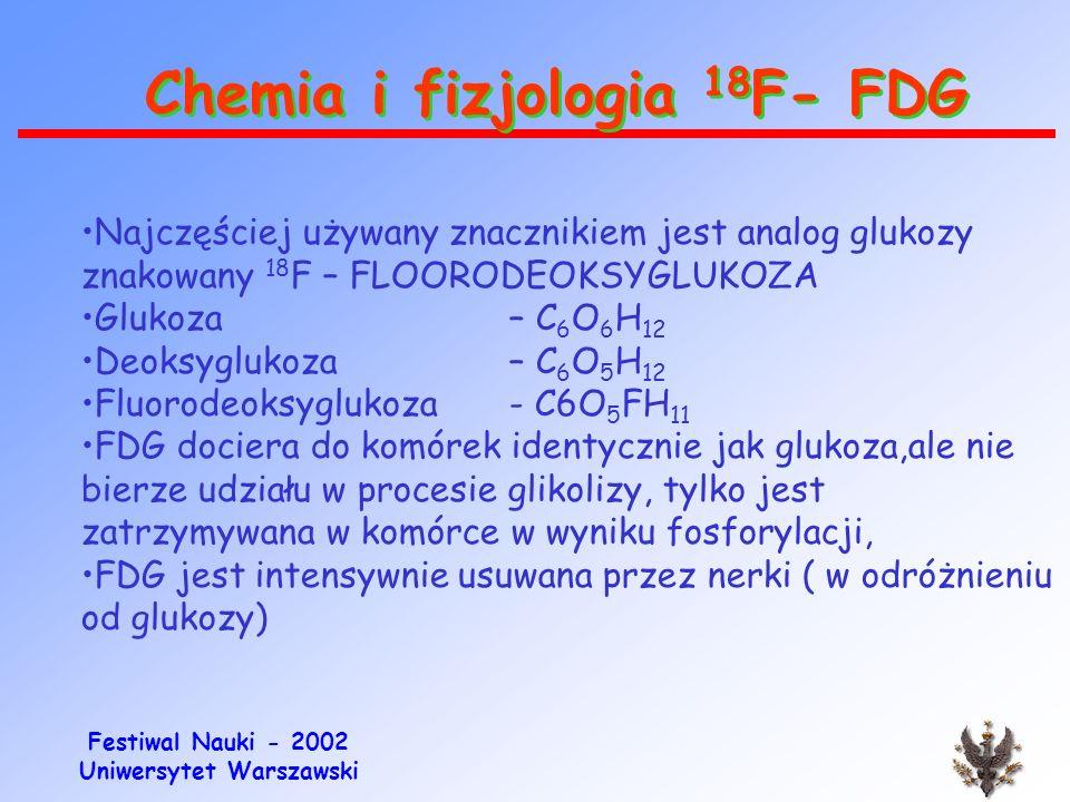 Festiwal Nauki - 2002 Uniwersytet Warszawski Moduł produkcji FDG (C 6 O 5 FH 11 )