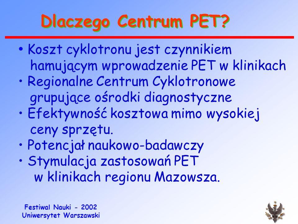 Festiwal Nauki - 2002 Uniwersytet Warszawski P.E.T.-Net