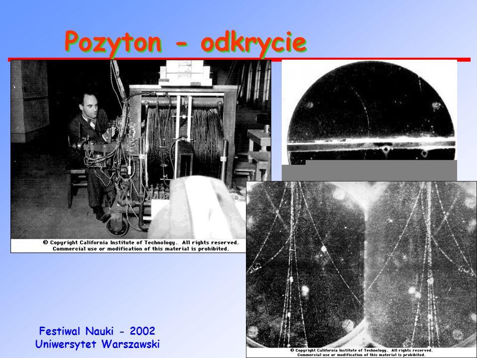 Festiwal Nauki - 2002 Uniwersytet Warszawski Elektron - odkrycie 1897 rok Badanie promieni katodowych