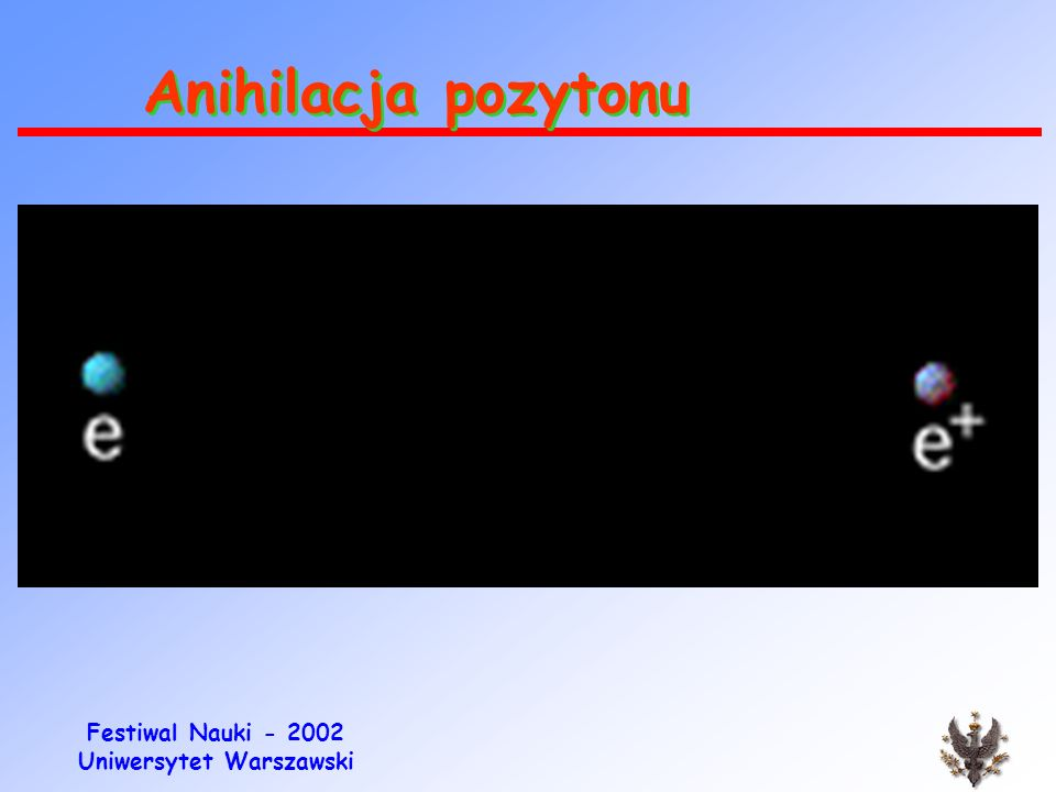 Festiwal Nauki - 2002 Uniwersytet Warszawski Rozpad pozytonowy