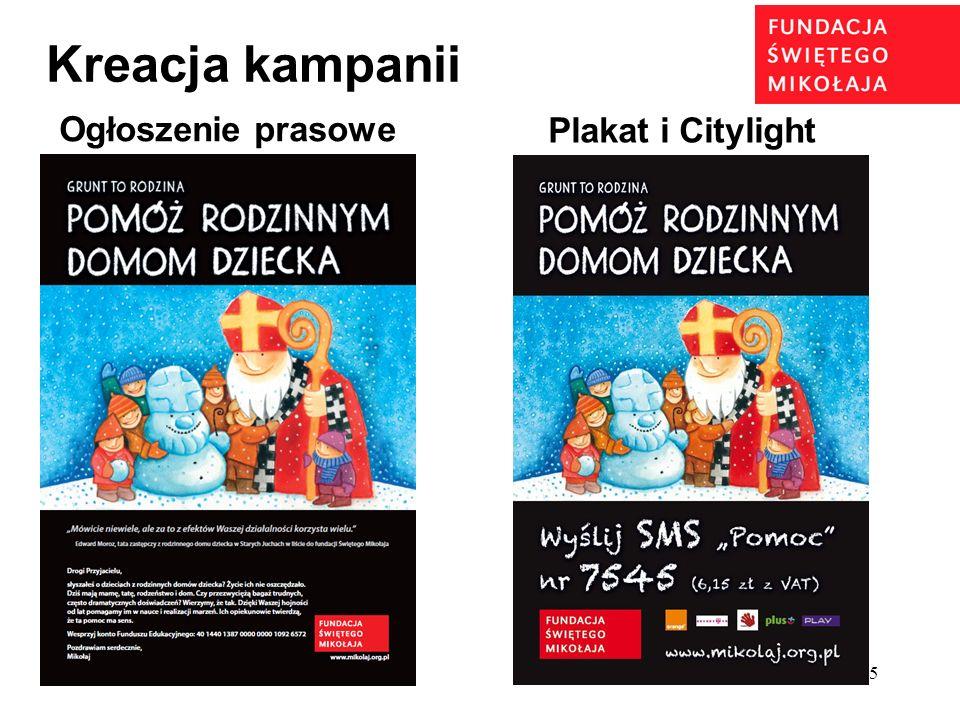 5 Ogłoszenie prasowe Plakat i Citylight Kreacja kampanii
