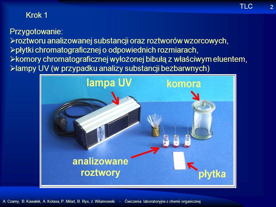 A. Czarny, B. Kawałek, A. Kolasa, P. Milart, B. Rys, J. Wilamowski - Ćwiczenia laboratoryjne z chemii organicznej 2 Krok 1 Przygotowanie: roztworu ana