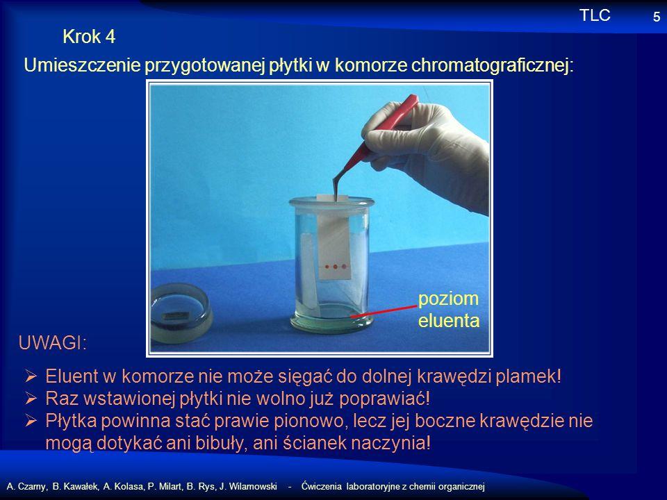 A. Czarny, B. Kawałek, A. Kolasa, P. Milart, B. Rys, J. Wilamowski - Ćwiczenia laboratoryjne z chemii organicznej 5 Krok 4 Umieszczenie przygotowanej