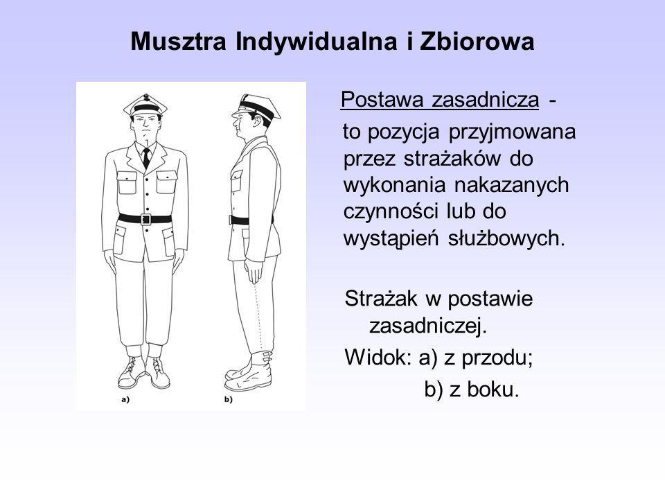 Musztra Indywidualna i Zbiorowa Postawa zasadnicza - to pozycja przyjmowana przez strażaków do wykonania nakazanych czynności lub do wystąpień służbow