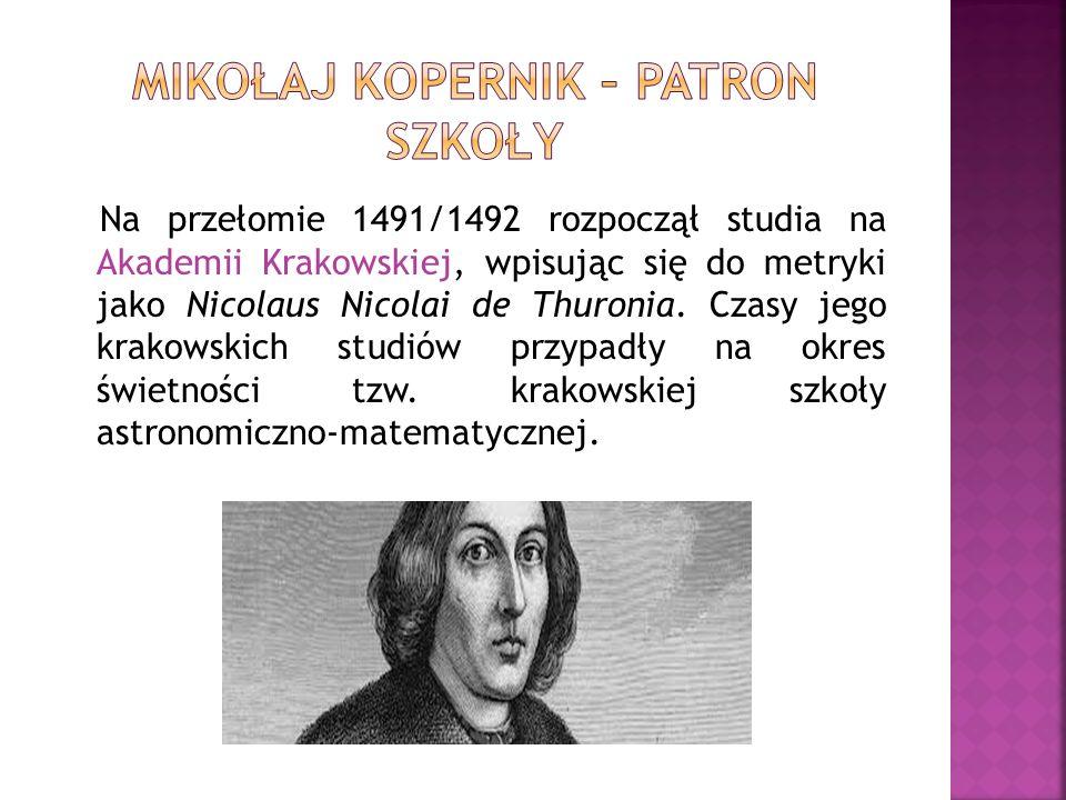 Na przełomie 1491/1492 rozpoczął studia na Akademii Krakowskiej, wpisując się do metryki jako Nicolaus Nicolai de Thuronia. Czasy jego krakowskich stu