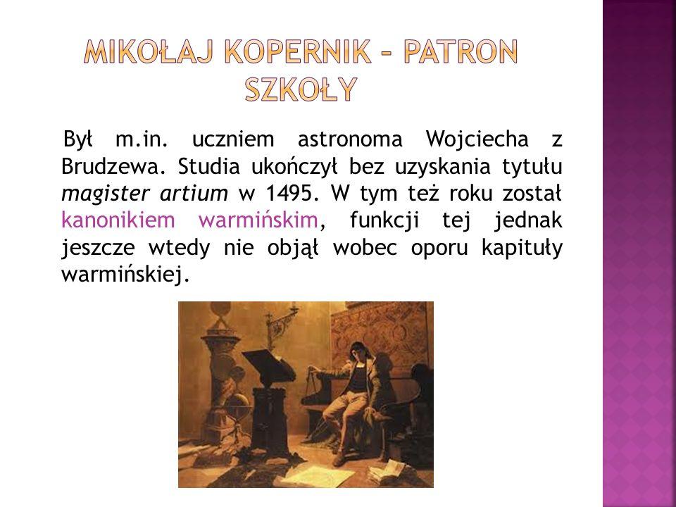 Był m.in. uczniem astronoma Wojciecha z Brudzewa. Studia ukończył bez uzyskania tytułu magister artium w 1495. W tym też roku został kanonikiem warmiń