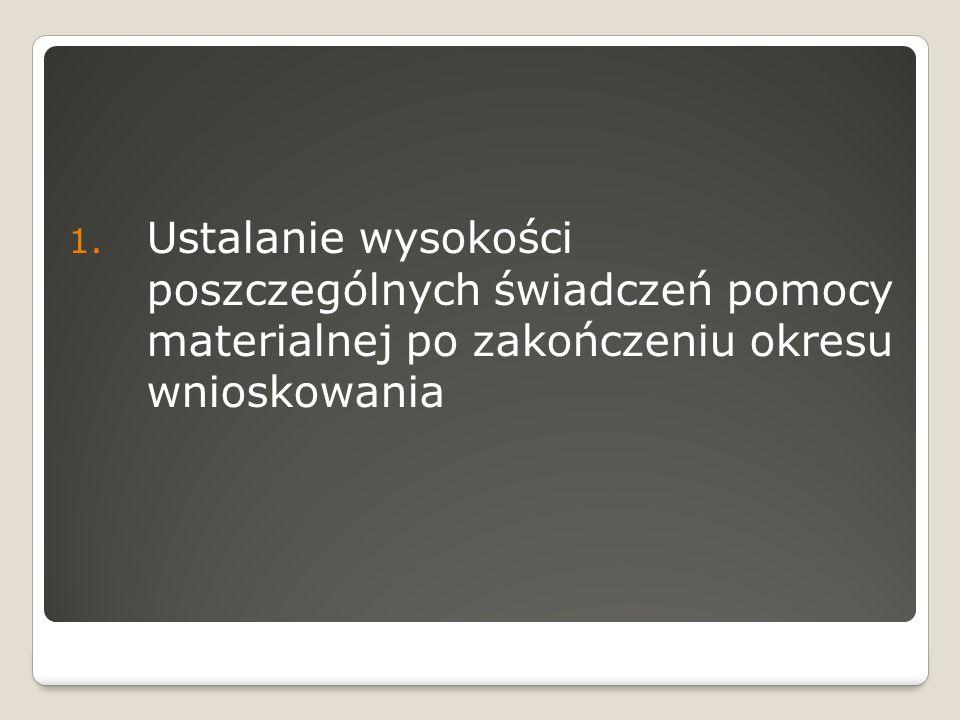 Stypendium socjalne 2.Zmiana sposobu określania wysokości stypendium socjalnego – kwota bazowa 3.