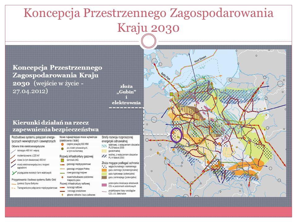 Uwarunkowania formalno - prawne Podobnie jest z ustaleniami Zmiany Planu Zagospodarowania Przestrzennego Województwa Lubuskiego (ZPZPWL), które gwarantują wyłącznie ochronę złóż.