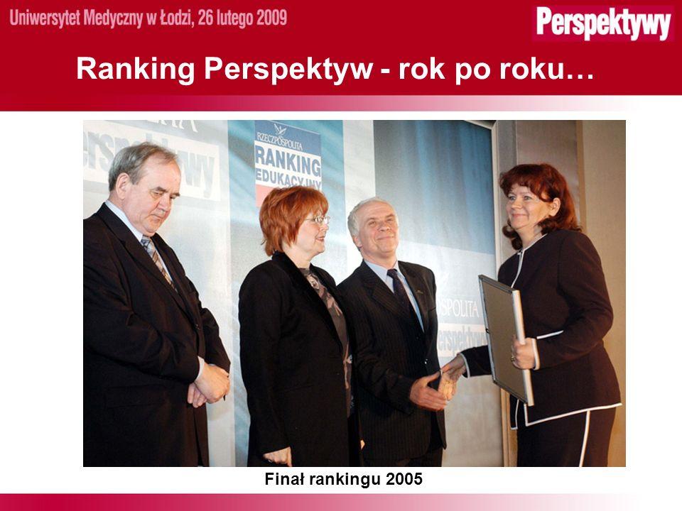 Ranking Perspektyw - rok po roku… Finał rankingu 2005