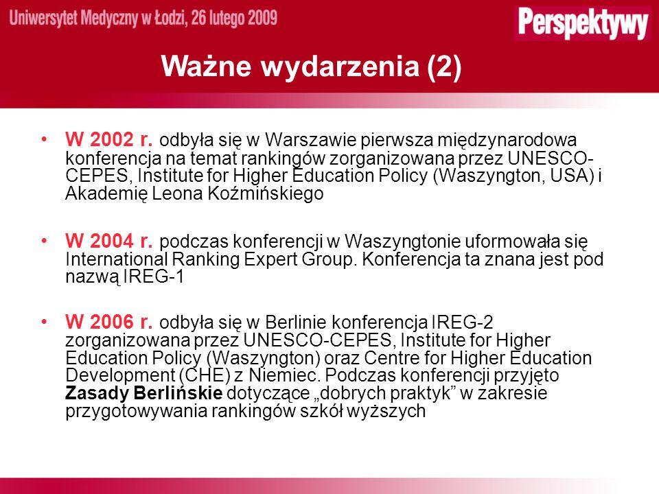 Ważne wydarzenia (2) W 2002 r.