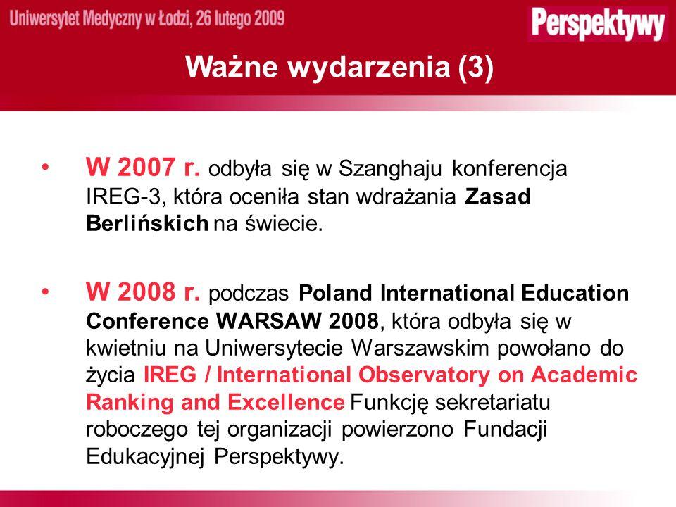 Ważne wydarzenia (3) W 2007 r.