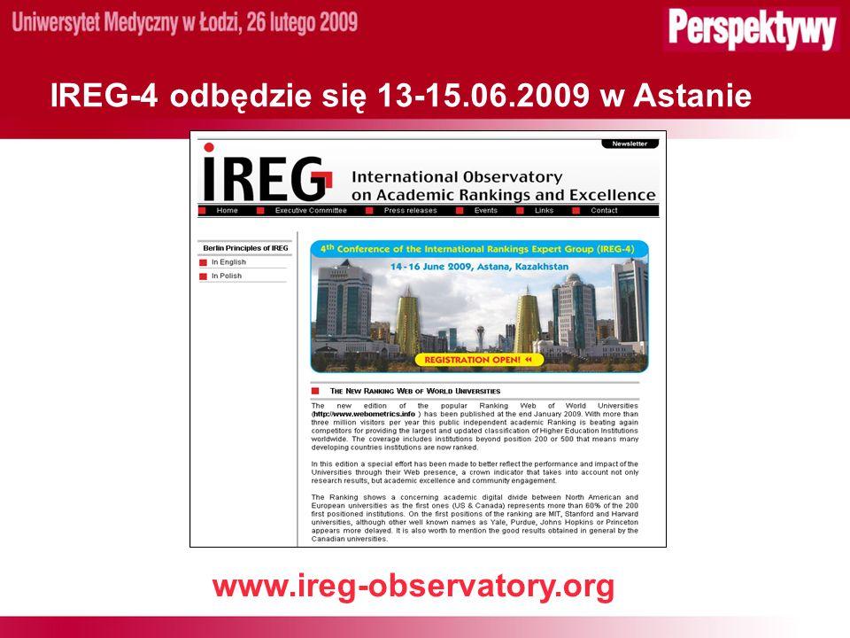 IREG-4 odbędzie się 13-15.06.2009 w Astanie www.ireg-observatory.org
