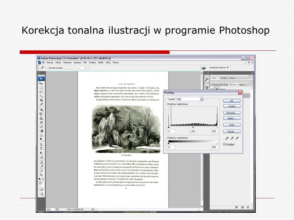 Korekcja tonalna ilustracji w programie Photoshop
