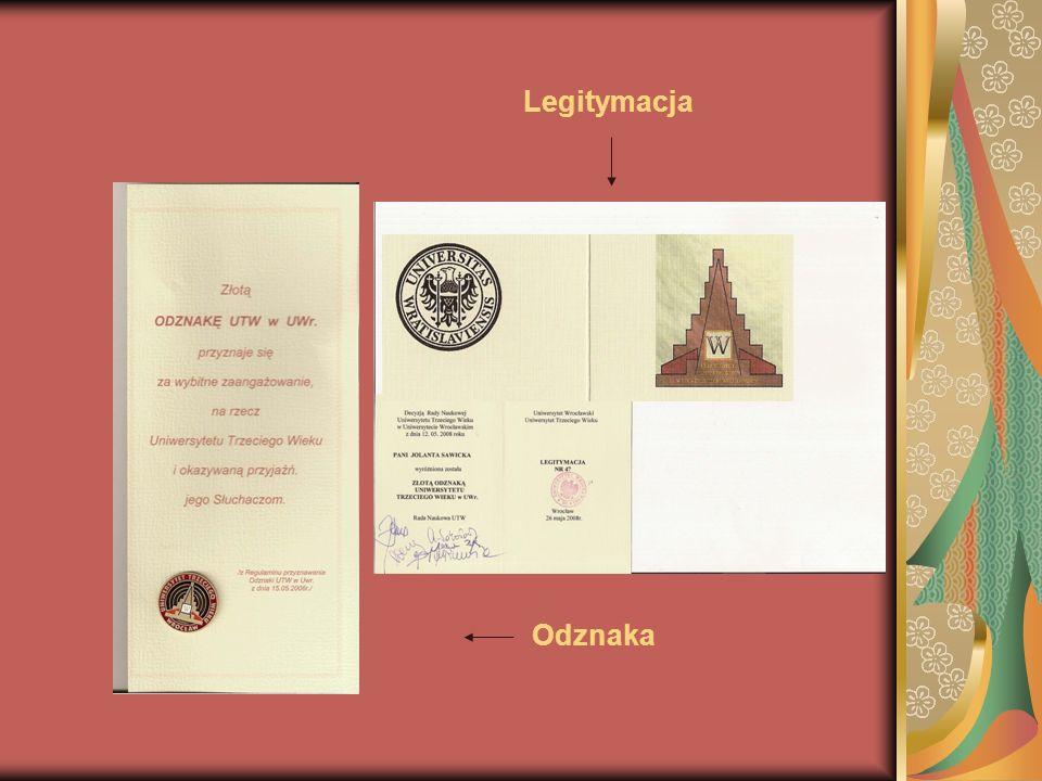 Legitymacja Odznaka
