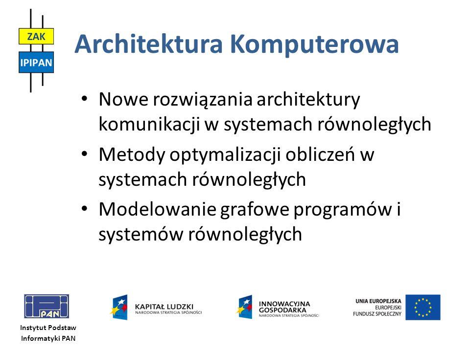 Instytut Podstaw Informatyki PAN Architektura Komputerowa Nowe rozwiązania architektury komunikacji w systemach równoległych Metody optymalizacji obli