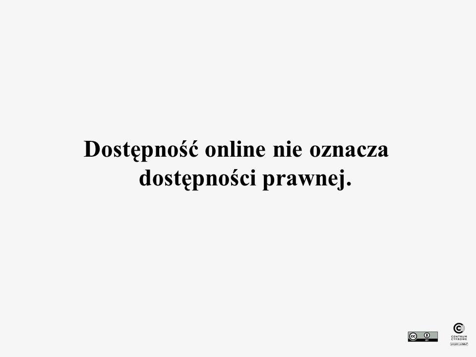 Dostępność online nie oznacza dostępności prawnej.