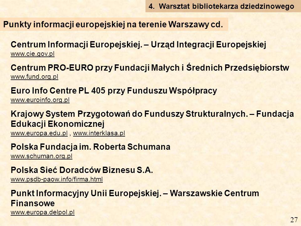 Centrum Informacji Europejskiej.
