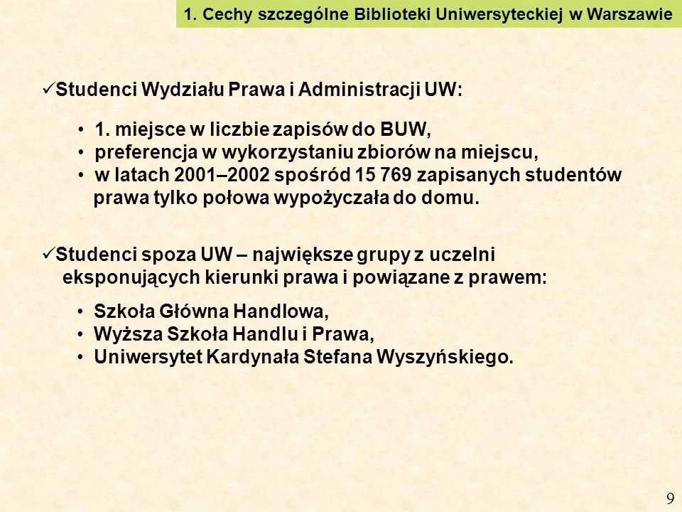 Studenci Wydziału Prawa i Administracji UW: 1.