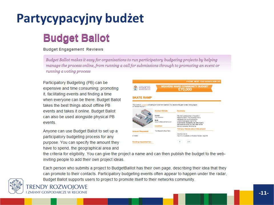 Partycypacyjny budżet -11-