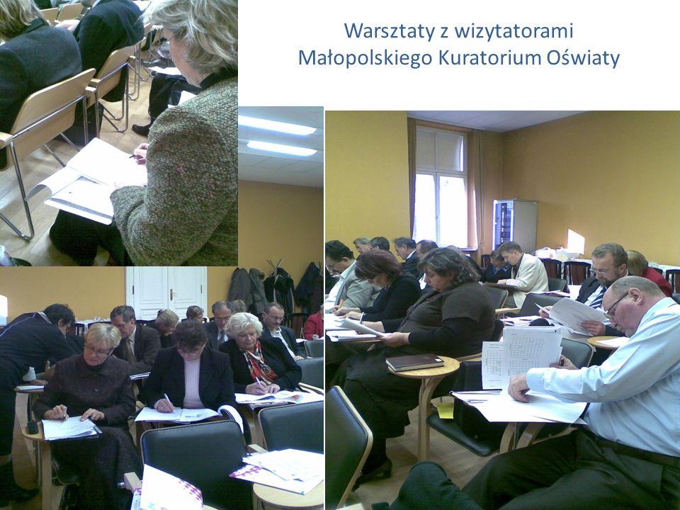 Warsztaty z wizytatorami Małopolskiego Kuratorium Oświaty