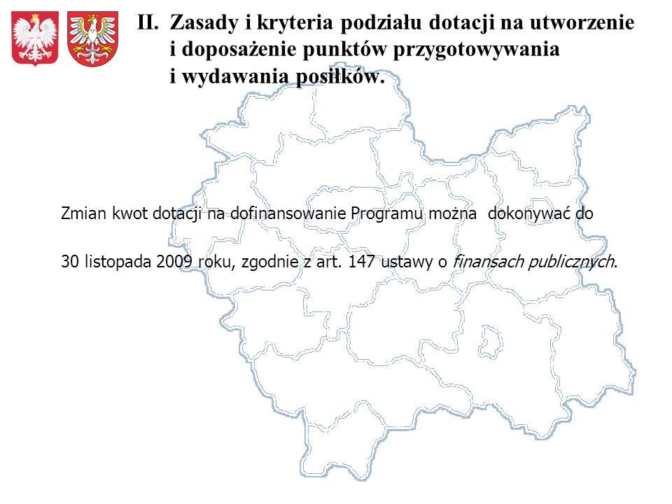 Zmian kwot dotacji na dofinansowanie Programu można dokonywać do 30 listopada 2009 roku, zgodnie z art.