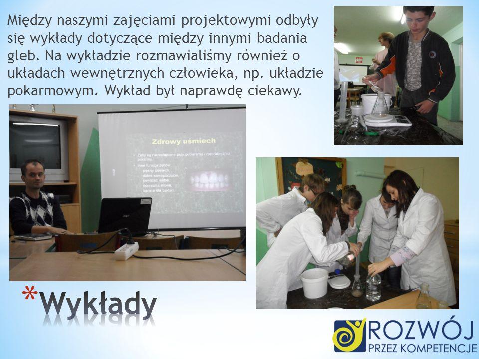 Między naszymi zajęciami projektowymi odbyły się wykłady dotyczące między innymi badania gleb. Na wykładzie rozmawialiśmy również o układach wewnętrzn