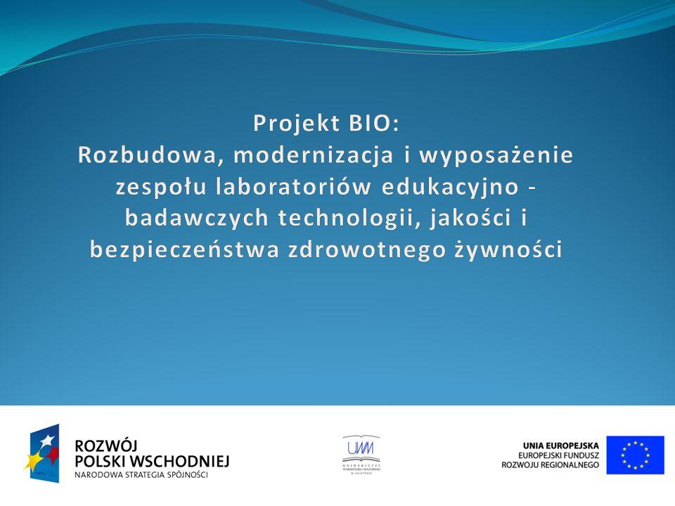 Modernizacja, wyposażenie i budowa obiektów przeznaczonych dla pięciu wydziałów UWM, których specyfika badań dotyczy szeroko rozumianych nauk przyrodniczych.