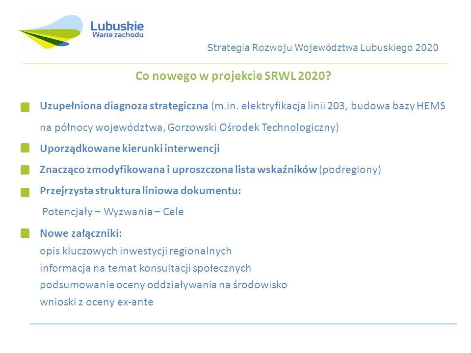 Co nowego w projekcie SRWL 2020? Uzupełniona diagnoza strategiczna (m.in. elektryfikacja linii 203, budowa bazy HEMS na północy województwa, Gorzowski