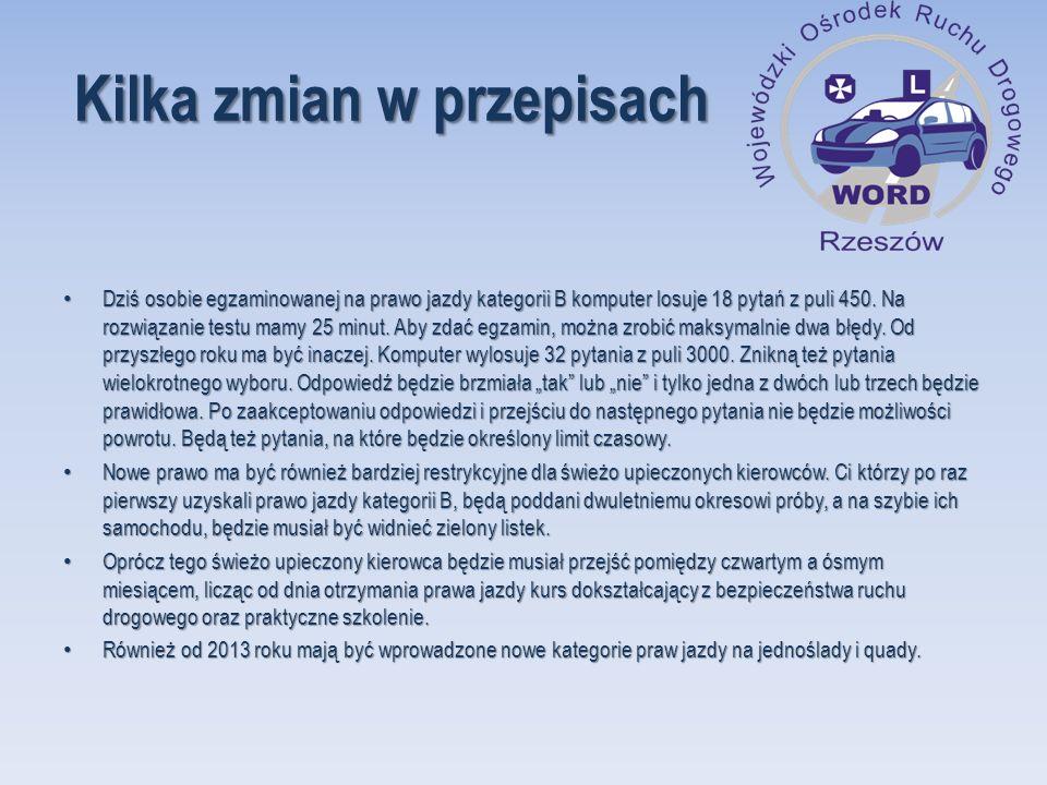 Statystyka zdawalności w WORD Rzeszów za okres 01 stycznia – 31 grudnia 2011 r.