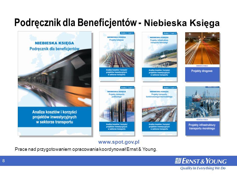 8 www.spot.gov.pl Prace nad przygotowaniem opracowania koordynował Ernst & Young. Podręcznik dla Beneficjentów - Niebieska Księga