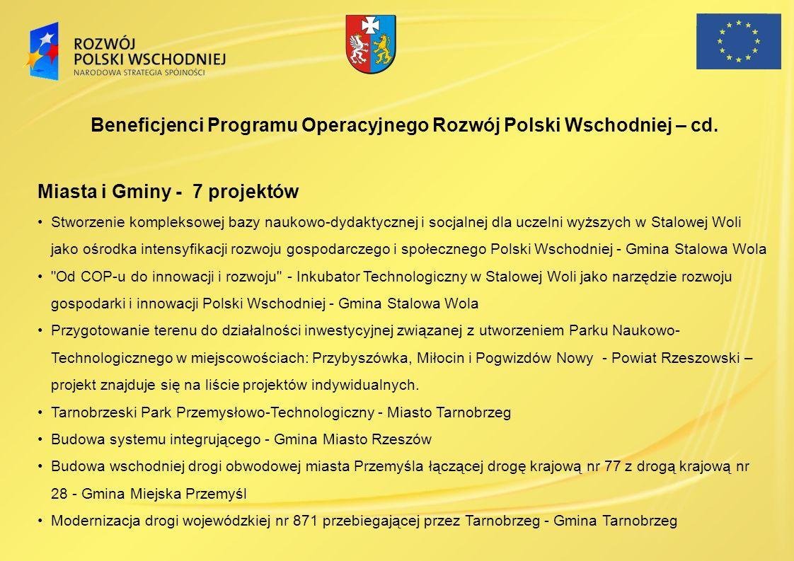 Miasta i Gminy - 7 projektów Stworzenie kompleksowej bazy naukowo-dydaktycznej i socjalnej dla uczelni wyższych w Stalowej Woli jako ośrodka intensyfi