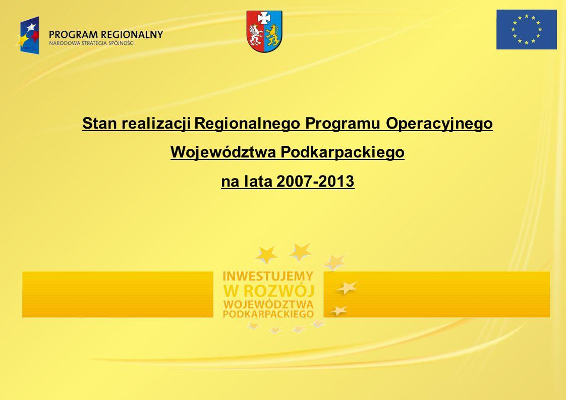 W ramach PO IG na terenie województwa podkarpackiego realizowanych jest 336 projektów o wartości całkowitej 2 135 418 640,23 PLN.