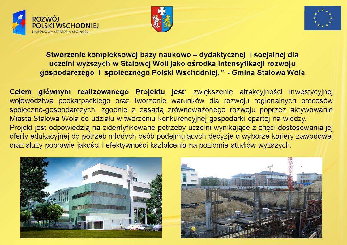 Stworzenie kompleksowej bazy naukowo – dydaktycznej i socjalnej dla uczelni wyższych w Stalowej Woli jako ośrodka intensyfikacji rozwoju gospodarczego