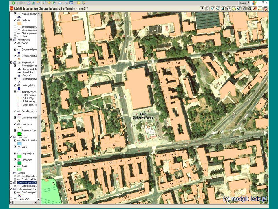 41 W na wiosnę roku 2007 Geodeta Wojewódzki rozpoczął od Łodzi i okolic (1000 km 2 ) zamówienia nalotu i opracowania ortofotomapy Województwa Łódzkiego rozdzielczości 0,1 m.