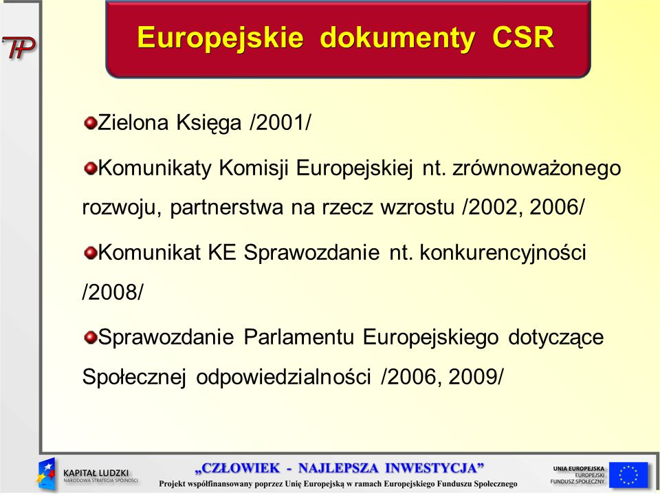 Zielona Księga /2001/ Komunikaty Komisji Europejskiej nt.