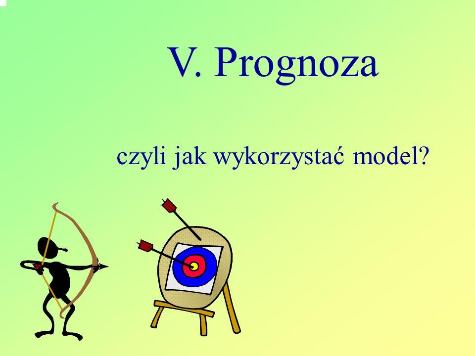 V. Prognoza czyli jak wykorzystać model?