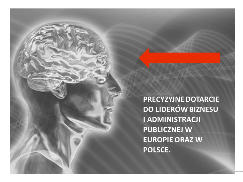 PRECYZYJNE DOTARCIE DO LIDERÓW BIZNESU I ADMINISTRACJI PUBLICZNEJ W EUROPIE ORAZ W POLSCE.