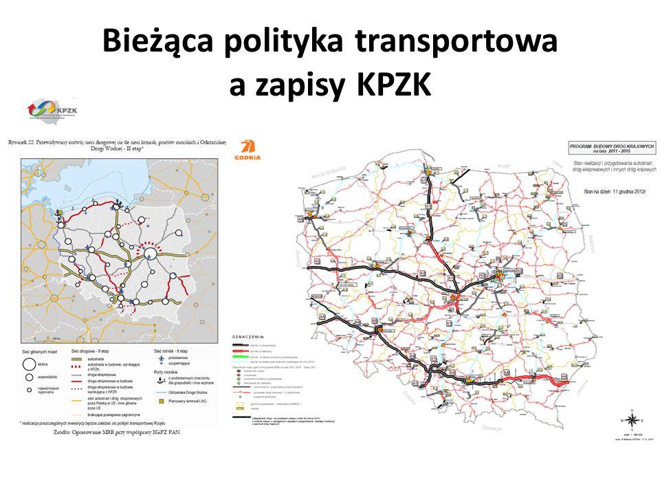 Bieżąca polityka transportowa a zapisy KPZK