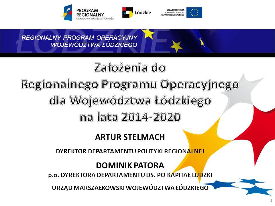 REGIONALNY PROGRAM OPERACYJNY WOJEWÓDZTWA ŁÓDZKIEGO Umowy Partnerstwa (Założenia) Poziom krajowy Strategia Rozwoju Województwa Łódzkiego 2020 Kontrakt Terytorialny ZAŁOŻENIA MRR DOTYCZĄCE DOKUMENTÓW PROGRAMOWYCH 2 Programy krajowe współfinansowane z UE Inne wsparcie finansowe na poziomie krajowym Programy krajowe współfinansowane z UE Inne wsparcie finansowe na poziomie krajowym Poziom regionalny RPO WŁ 2014- 2020 Inne dokumenty strategiczne szczebla regionalnego