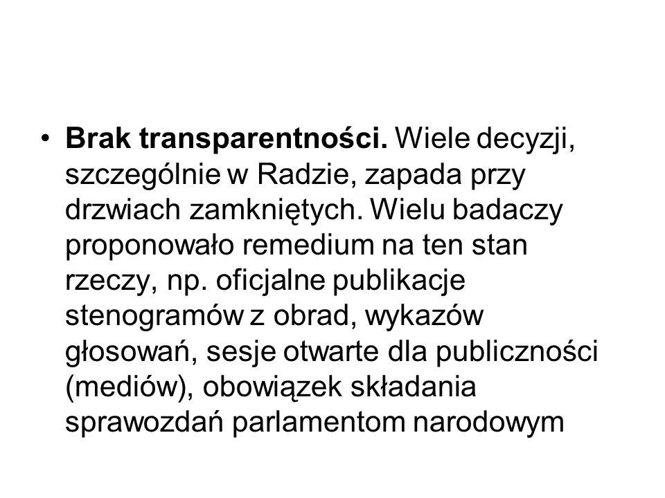 Tabela 1. Poczucie liczenia się z głosem państw członkowskich w UE