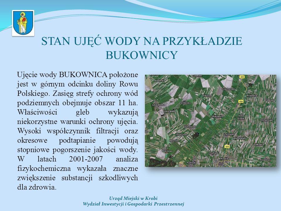 STAN UJĘĆ WODY NA PRZYKŁADZIE BUKOWNICY Ujęcie wody BUKOWNICA położone jest w górnym odcinku doliny Rowu Polskiego.