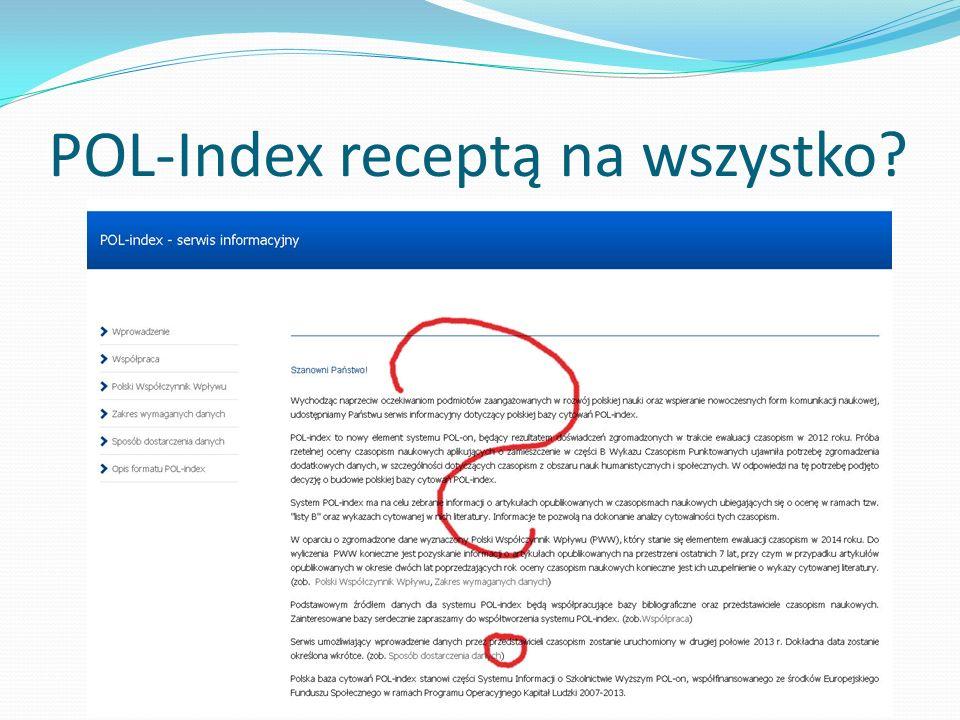 POL-Index receptą na wszystko?