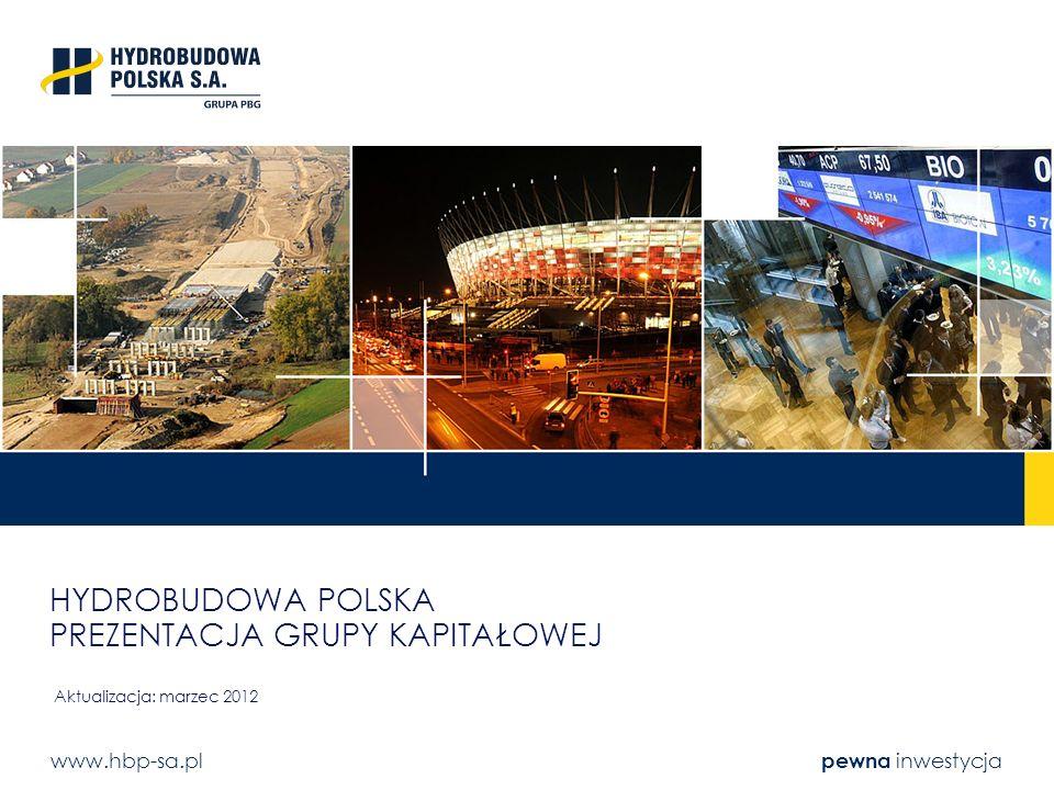 www.hbp-sa.pl pewna inwestycja HYDROBUDOWA POLSKA PREZENTACJA GRUPY KAPITAŁOWEJ Aktualizacja: marzec 2012
