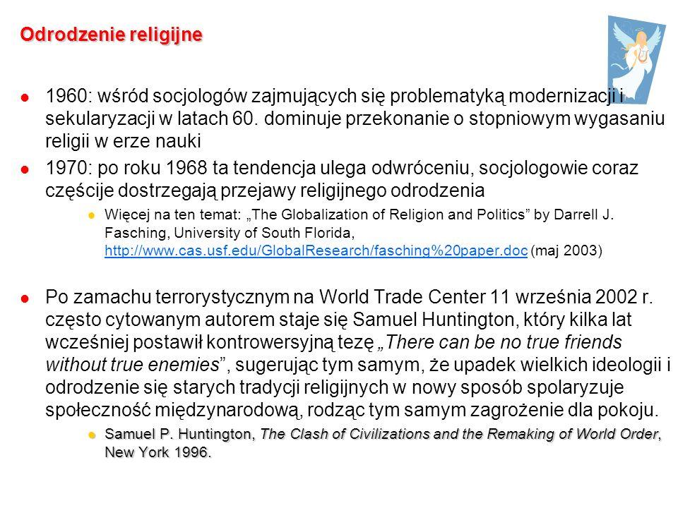 1960: wśród socjologów zajmujących się problematyką modernizacji i sekularyzacji w latach 60.