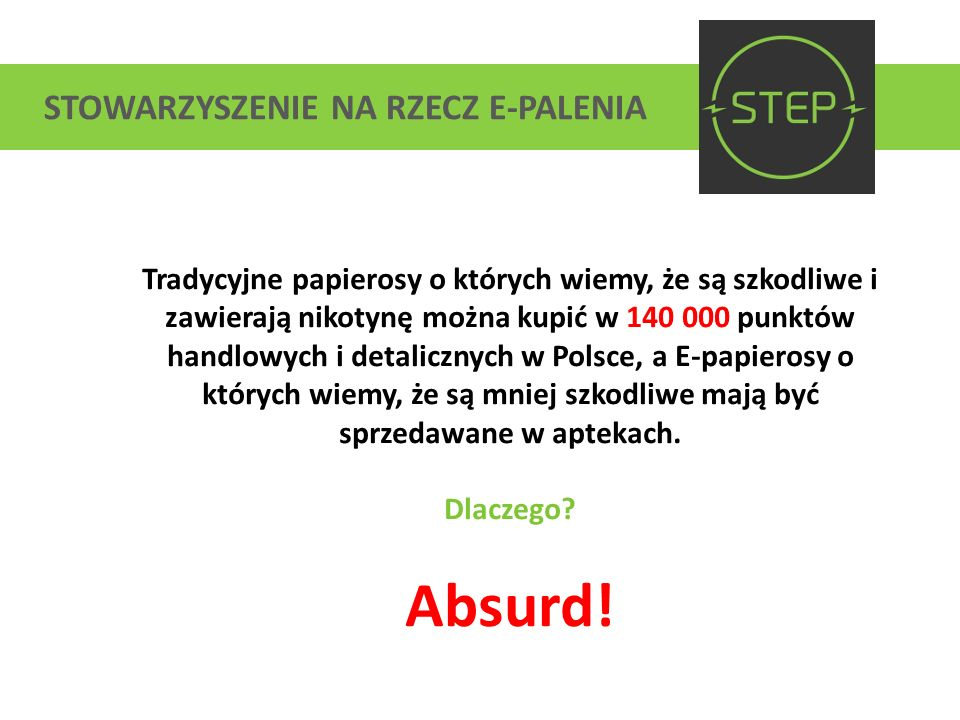 STOWARZYSZENIE NA RZECZ E-PALENIA www.step.org.pl