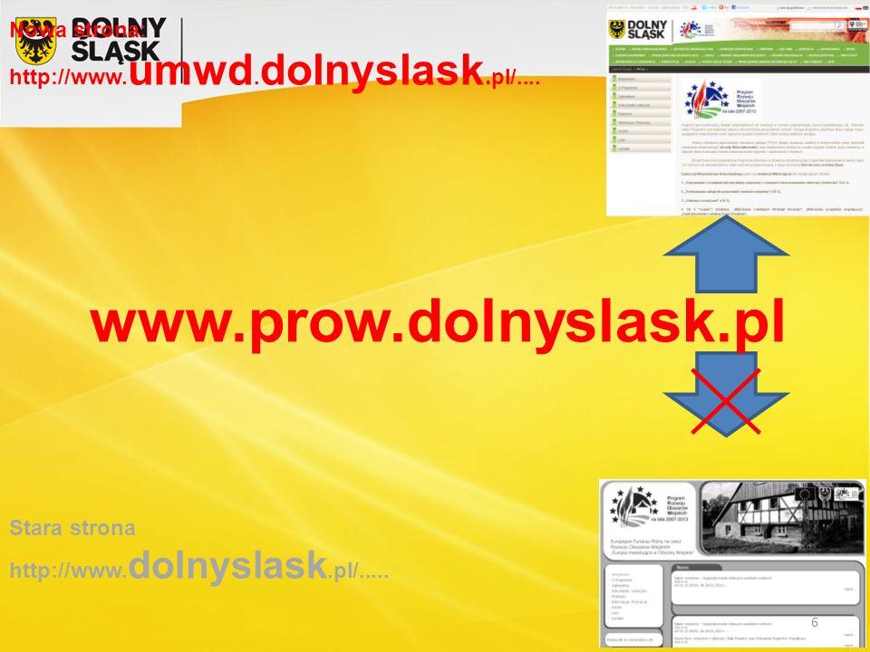 Nowa strona: http://www.umwd. dolnyslask. pl/....