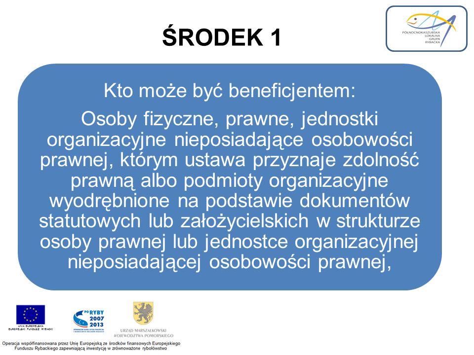ŚRODEK 2 Kto może być beneficjentem: - armatorzy statków rybackich o polskiej przynależności, na który została wydana licencja połowowa i licencja ta nie została zawieszona lub cofnięta, którego port macierzysty znajduje się na obszarze PLGR, - podmioty, które uzyskały pomoc z tytułu trwałego wycofania statku rybackiego w ramach działania 1.1 lub działania 1.2 SPO Rybołówstwo i przetwórstwo ryb 2004-2006 lub w ramach środka pomoc publiczna z tytułu trwałego zaprzestania działalności połowowej objętego osią priorytetową 1 i zamieszkuje albo posiada siedzibę na obszarze PLGR - osoby fizyczne zamieszkałe na terenie PLGR, które utraciły miejsce pracy w wyniku trwałego zaprzestania działalności połowowej przy użyciu statku rybackiego.