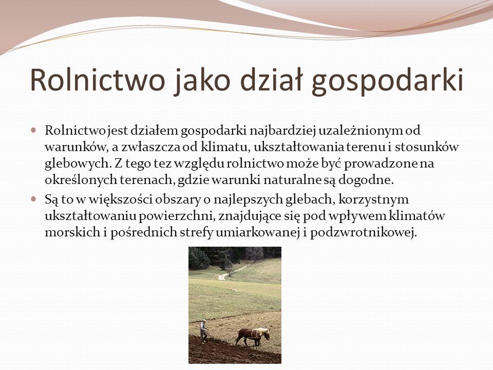 Historia rolnictwa Rolnictwo należy do najstarszych dziedzin wytwórczości materialnej człowieka - jego początki datuje się na neolit - 10 000 do 3 000 lat p.n.e.